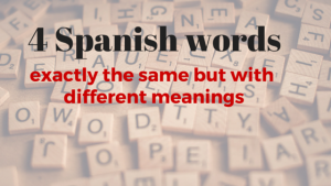 4 Spanish words
