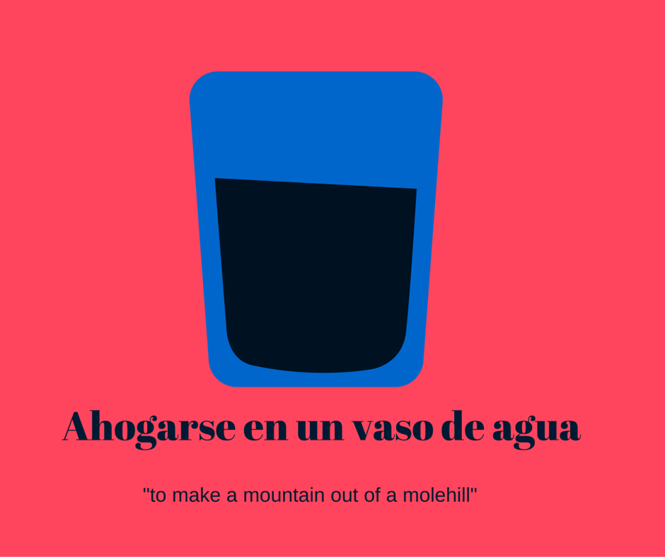 8 set spanish phrases with the word water spanish connection - Vaso con agua ...