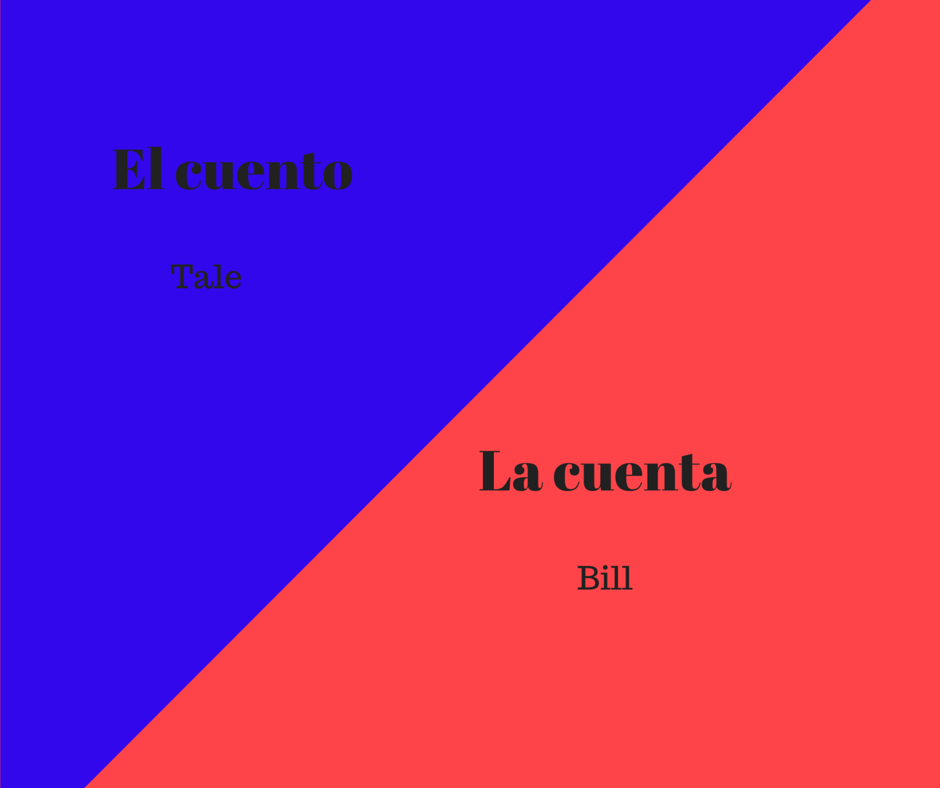 cuento-or-cuenta-in-spanish
